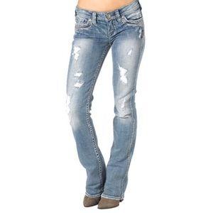 Silver Jeans Aiko Flap Bootcut medium wash 30W